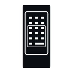 Retro Remote Control Icon, Vector Illustration