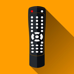 Remote Control Icon, Long Shadow Design, Vector Illustration