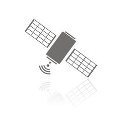 Icono satélite FB reflejo
