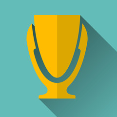 Modern Trophy Cup Icon, Vector Illustration
