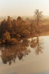 river at dawn