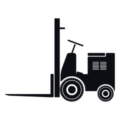Forklift Icon, Vector Illustration