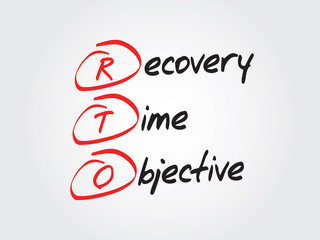 Recovery Time Objective (RTO), vector business acronym