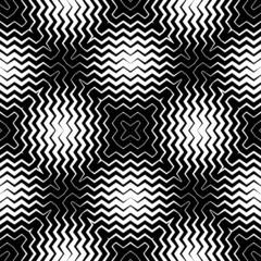Op Art Design, Zig Zag Striped Vector Seamless Pattern
