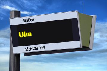 Anzeigetafel 6 - Ulm