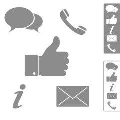 Five simple icons for website, blog.