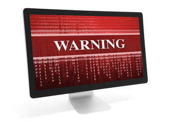 warning message on a screen