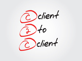 Client To Client (c2c), vector business acronym