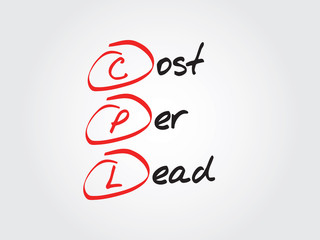 Cost Per Lead (CPL), vector business acronym