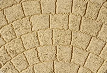 Yellow decorative tile  closeup