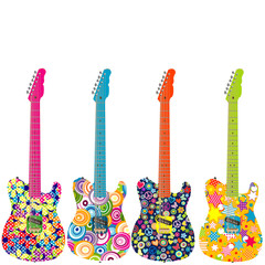 Flower power electric guitars