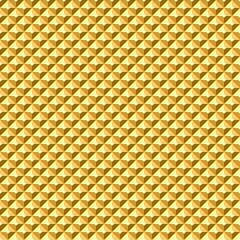 Seamless golden geometric relief texture.