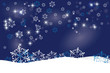Christmas background design - Blue with snowflakes