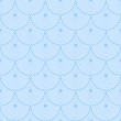 Seamless blue wallpaper. Scaly decorative pattern.