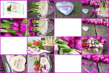 Geschenkanhänger, Geschenkkärtchen zum Valentinstag