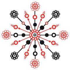 ornement rouge et noir