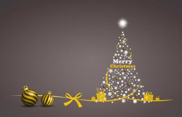 glitzernder Weihnachtsbaum mit Kugeln