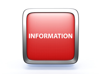 information square icon on white background