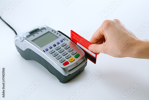 Paying with credit card terminal - 74420166
