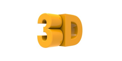 yellow Metallic 3D logo with reflection effect