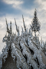 White temple in Chiangrai province of Thailand