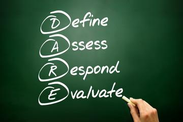 Define Assess Respond Evaluate (DARE) concept on blackboard