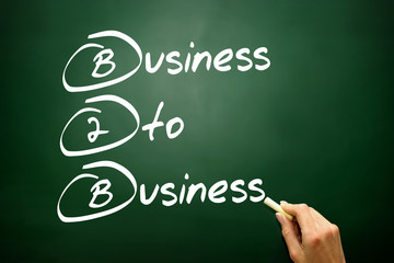 Business To Business (B2B), business concept on blackboard