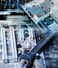 Computer technology.Repair computer
