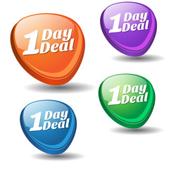 1 Day Deal Colorful Vector Icon Design
