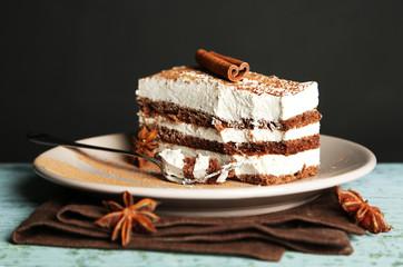 Tasty tiramisu cake
