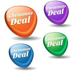 Christmas Deal Colorful Vector Icon Design