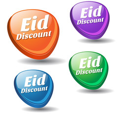 Eid Discount Colorful Vector Icon Design