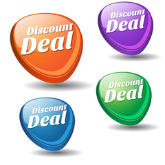 Discount Deal Colorful Vector Icon Design