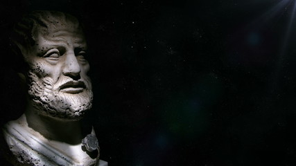 Animation of the philosopher Aristotle in 4K format
