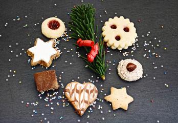 verschiedene Weihnachtskekse