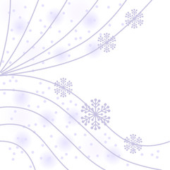 Christmas gentle background with garland and snowflakes