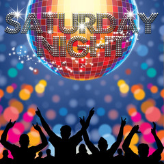 Saturday Night poster disco ball