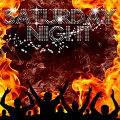 Saturday Night poster hot devilish flames