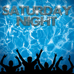 Saturday Night poster pool party