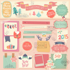 Christmas scrapbook set - decorative elements.