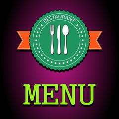 Vector illustration card. Restaurant menu label