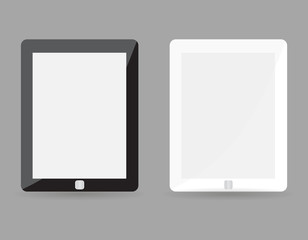 Two realistic tablet pc concept - black and white