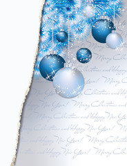 Merry Christmas & Happy new year greeting card, vector