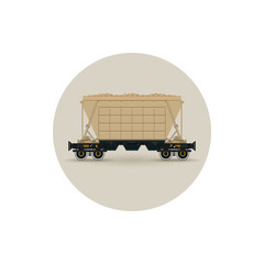Icon  hopper car  for transportation  freights,  vector
