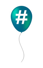 Balloon icon with a hash tag