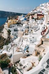 Oia cityscape, Santorini, Greece.