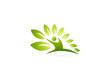 Natural fit wellness logo design, active fitness concept