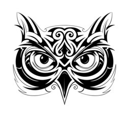 Owl head tattoo