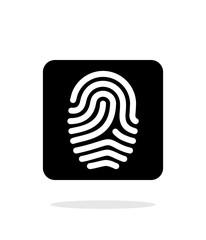 Fingerprint and thumbprint icon on white background.