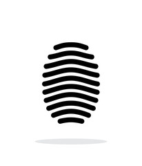 Fingerprint arch type icon on white background.